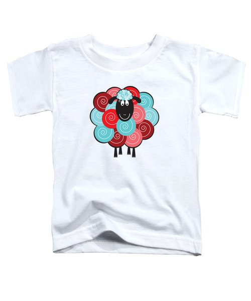 Curly The Sheep Toddler T-Shirt by Natalie Kinnear