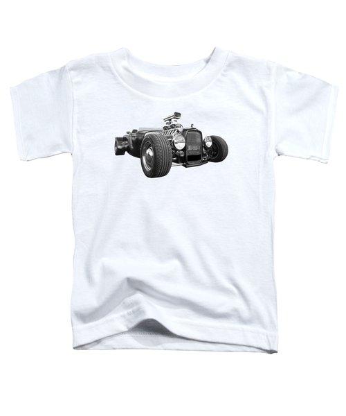 Custom Rod - Black And White Toddler T-Shirt