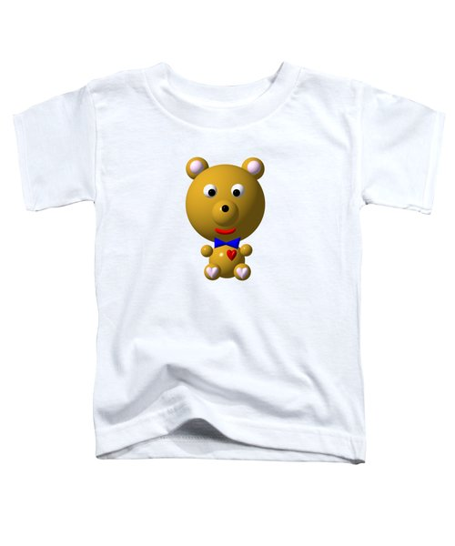 Cute Bear With Bow Tie Toddler T-Shirt