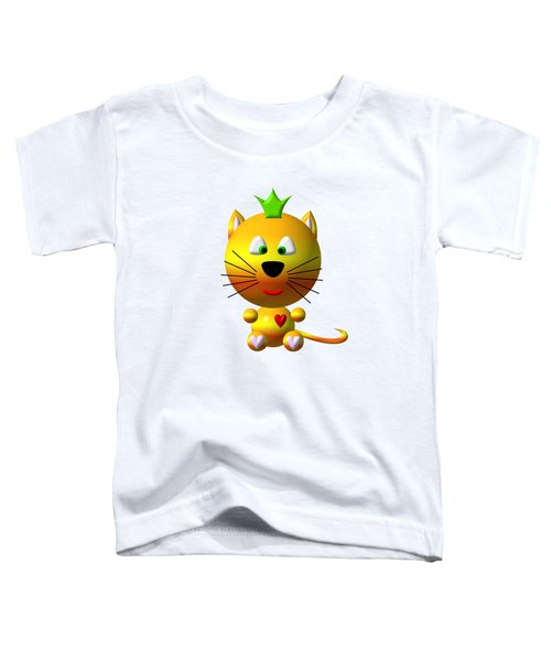 Cute Cat With Crown Toddler T-Shirt