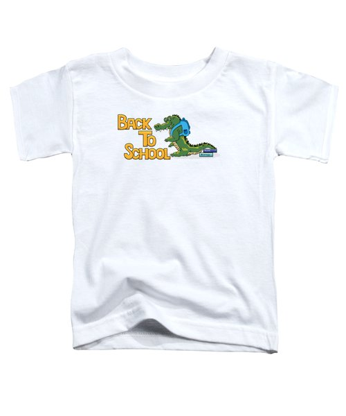Cute Crocodile With Briefcase Toddler T-Shirt