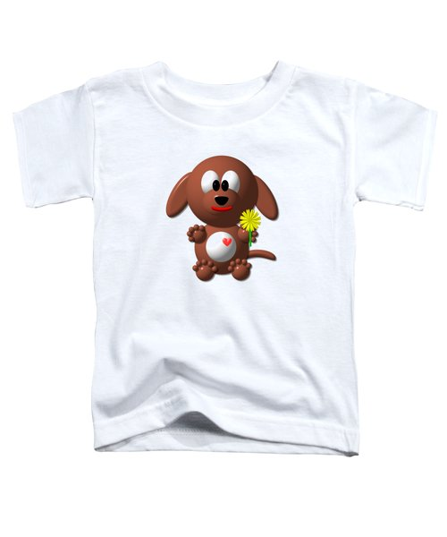 Cute Dog With Dandelion Toddler T-Shirt