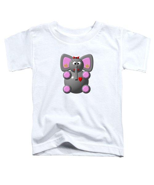 Cute Elephant Wearing Earrings Toddler T-Shirt
