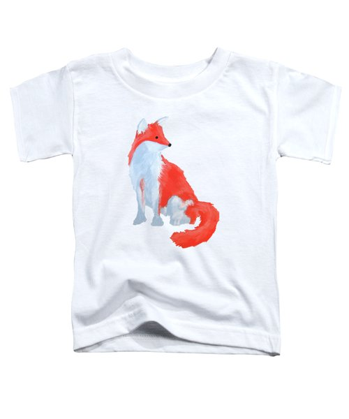 Cute Fox With Fluffy Tail Toddler T-Shirt
