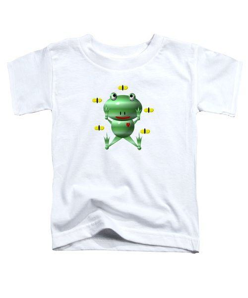 Cute Frog With Flies Toddler T-Shirt