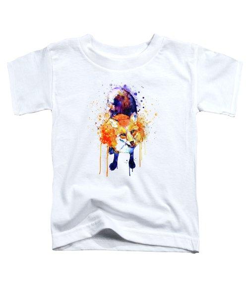 Cute Happy Fox Toddler T-Shirt
