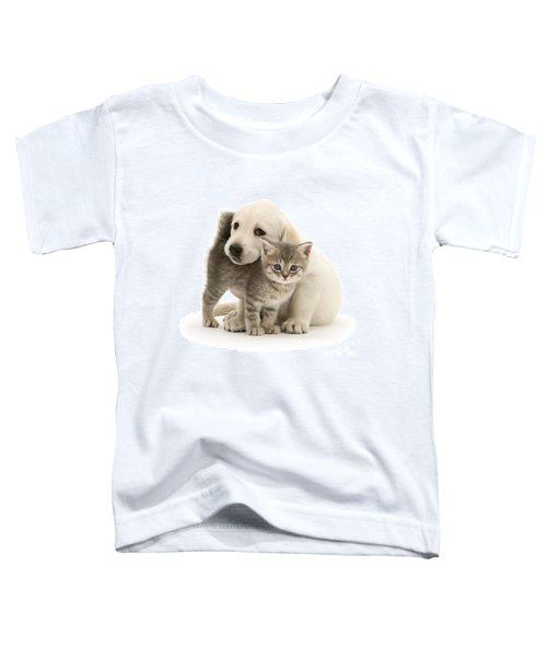 Cute Kitten And Perfect Puppy Toddler T-Shirt