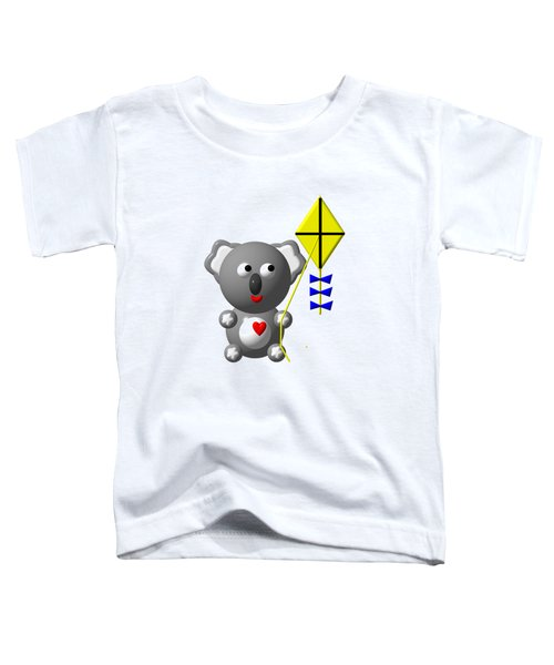 Cute Koala With Kite Toddler T-Shirt by Rose Santuci-Sofranko