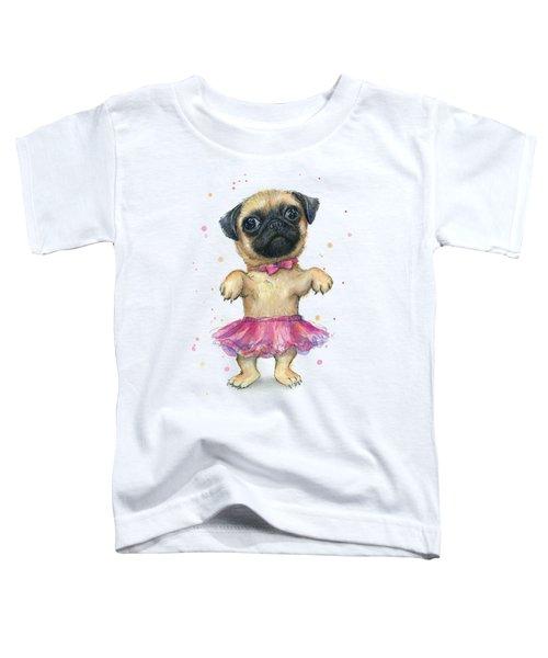 Cute Pug Puppy Toddler T-Shirt