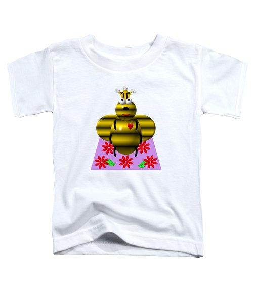 Cute Queen Bee On A Quilt Toddler T-Shirt