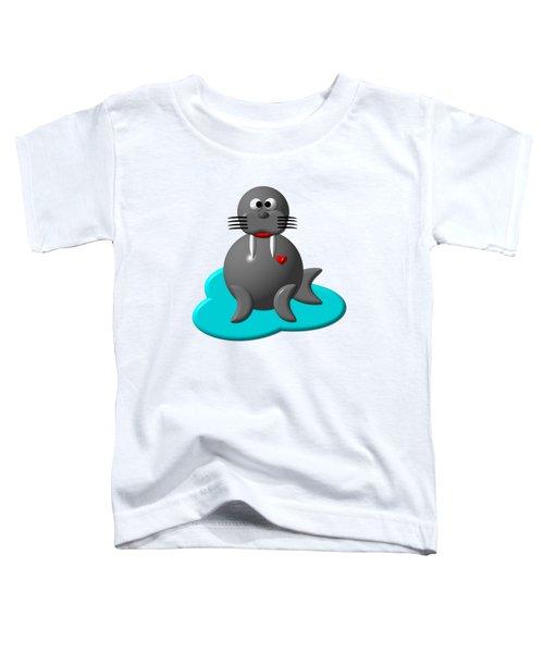 Cute Walrus In Water Toddler T-Shirt