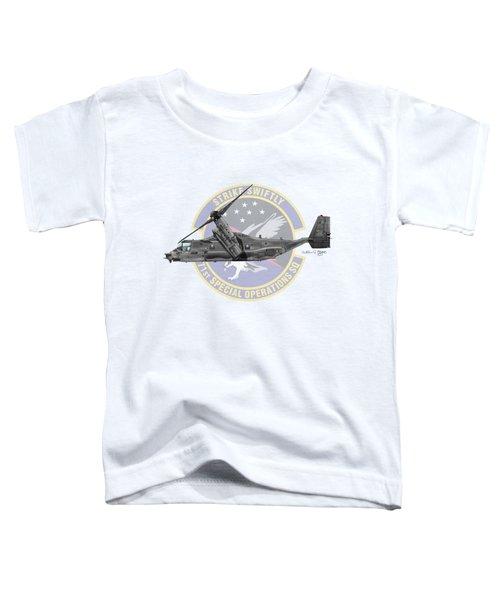 Cv-22b Osprey 71sos Toddler T-Shirt by Arthur Eggers
