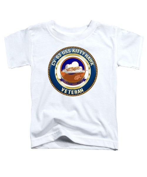 Cv-63 Uss Kitty Hawk  Toddler T-Shirt