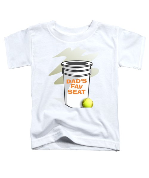 Dad's Fav Seat Toddler T-Shirt