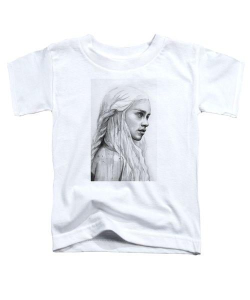 Daenerys Watercolor Portrait Toddler T-Shirt