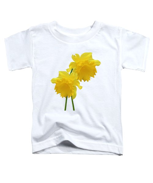 Daffodils On White Toddler T-Shirt