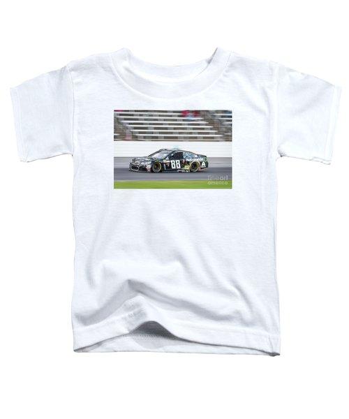 Dale Earnhardt Jr Running Hard At Texas Motor Speedway Toddler T-Shirt