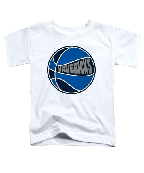 Dallas Mavericks Retro Shirt Toddler T-Shirt by Joe Hamilton