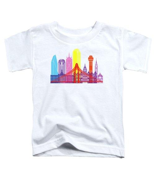 Dallas Skyline Pop Toddler T-Shirt by Pablo Romero