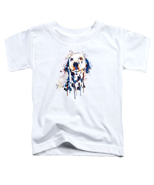 Dalmatian Head Toddler T-Shirt by Marian Voicu