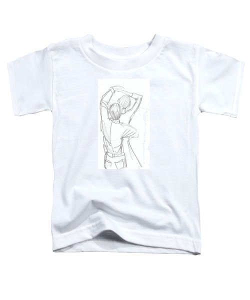 Dancing Couple Pencil Sketch Toddler T-Shirt