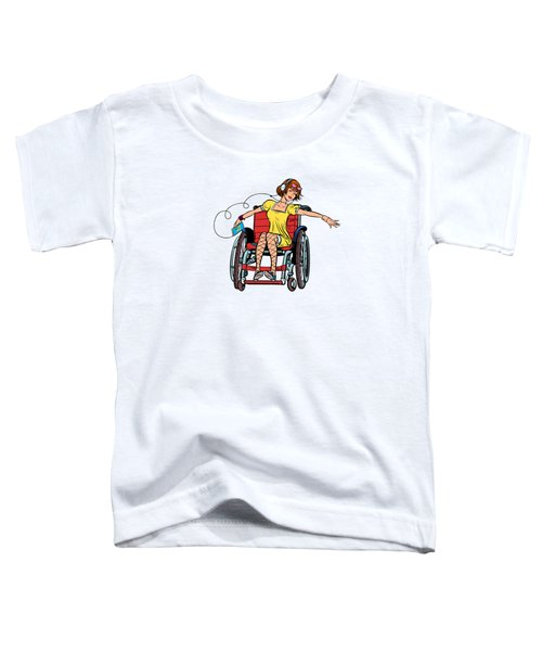 Dancing Girl In A Wheelchair Toddler T-Shirt