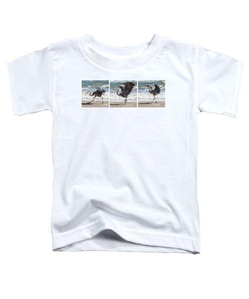 Dancing Heron Triptych Toddler T-Shirt