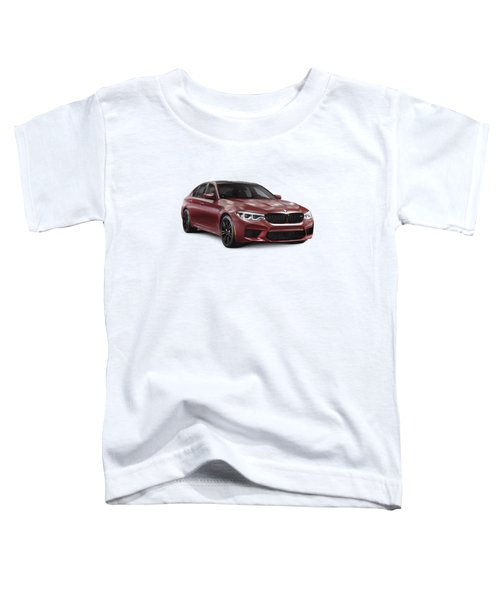 Dark Red 2018 Bmw M5 Performance Car Sport Sedan Art Photo Print Toddler T-Shirt