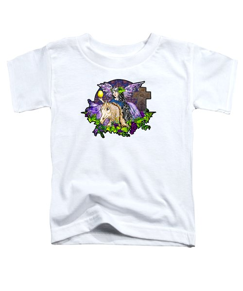 Dark Tales Of Fairy Eve And The Dragons Of Eden Toddler T-Shirt by Janice Moore
