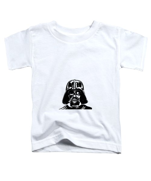 Darth Vader Painting Toddler T-Shirt by Edward Fielding
