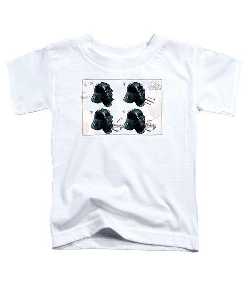 Darth Vader Tea Drinking Star Wars Toddler T-Shirt