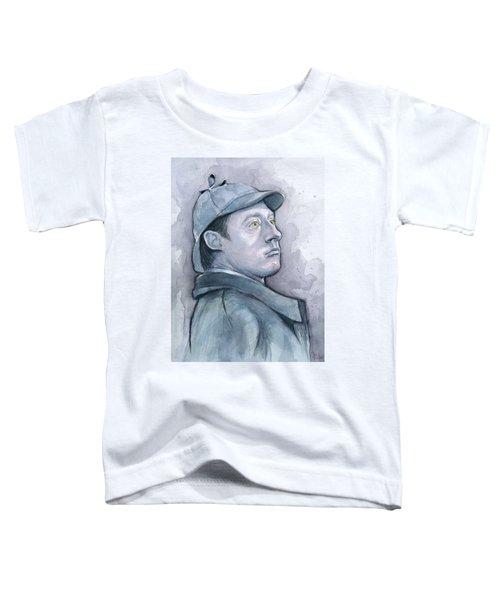 Data As Sherlock Holmes Toddler T-Shirt