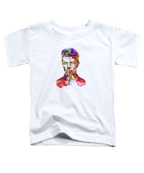 David Bowie  Toddler T-Shirt by Marian Voicu