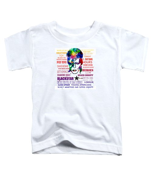 David Bowie Tribute Toddler T-Shirt