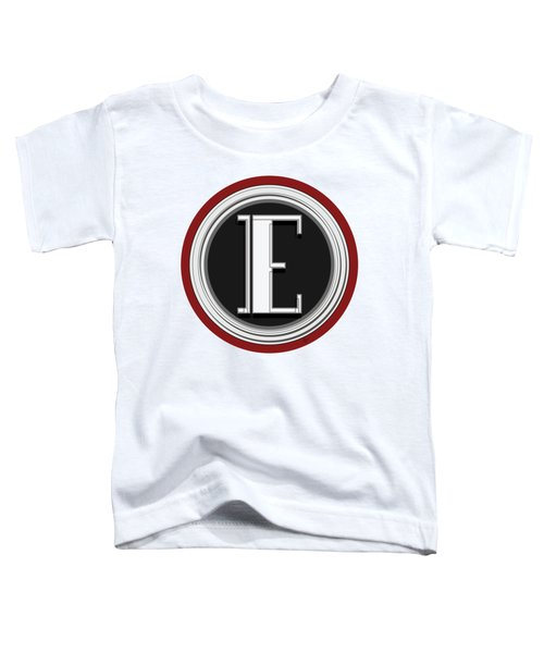 Deco Cafe Marquee  Monogram  Letter E Toddler T-Shirt