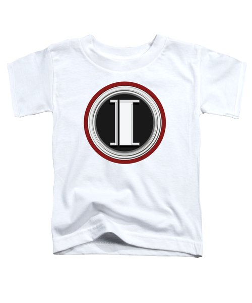Deco Cafe Marquee  Monogram  Letter I Toddler T-Shirt