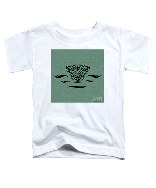 Deep Green Tribal Gator Toddler T-Shirt