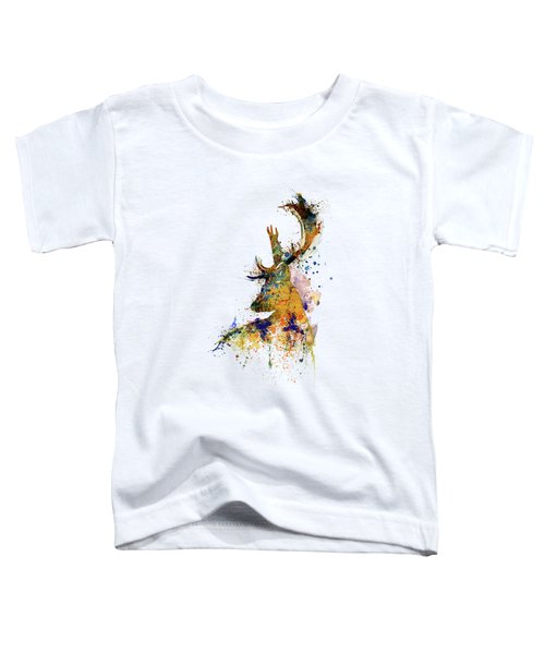 Deer Head Watercolor Silhouette Toddler T-Shirt