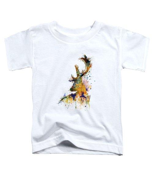 Deer Head Watercolor Silhouette Toddler T-Shirt