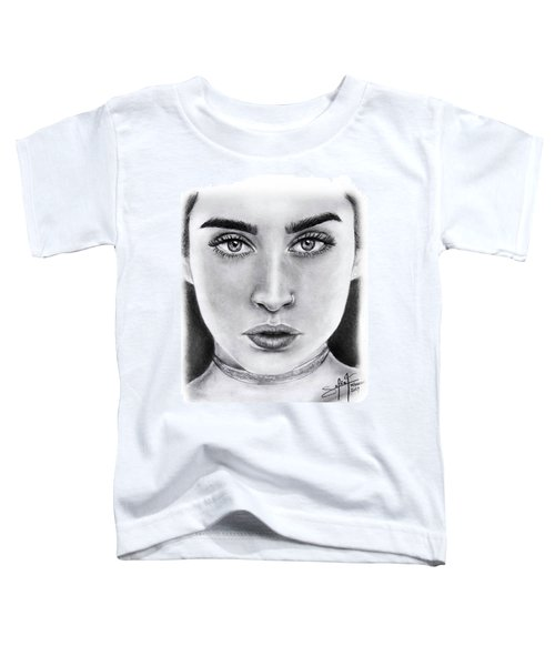 Lauren Jauregui Drawing By Sofia Furniel  Toddler T-Shirt