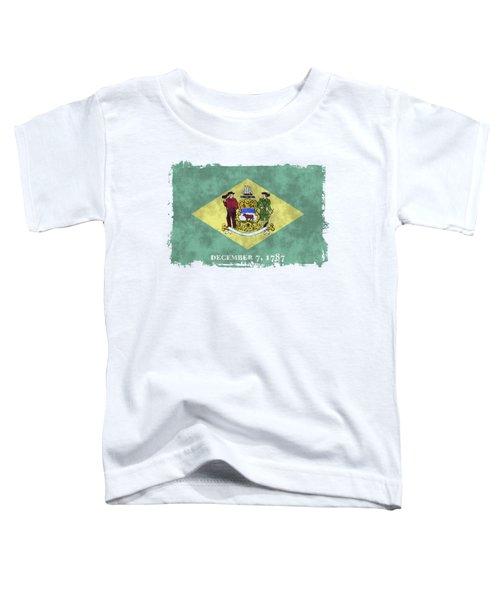 Delaware Flag Toddler T-Shirt