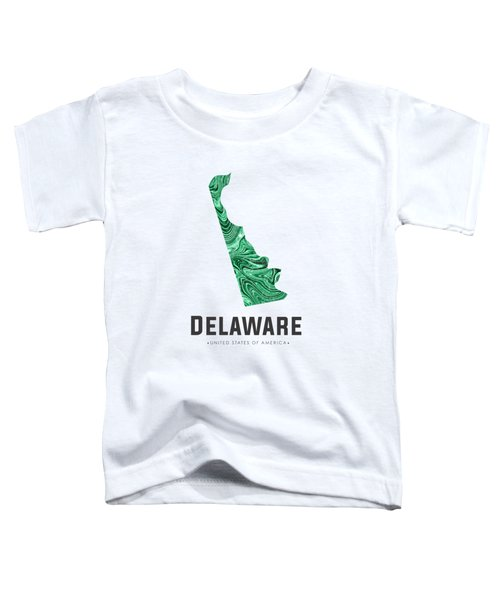 Delaware Map Art Abstract In Green Toddler T-Shirt