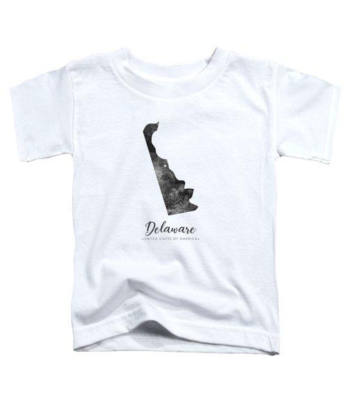 Delaware State Map Art - Grunge Silhouette Toddler T-Shirt