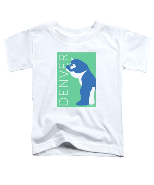 Denver Blue Bear/aqua Toddler T-Shirt