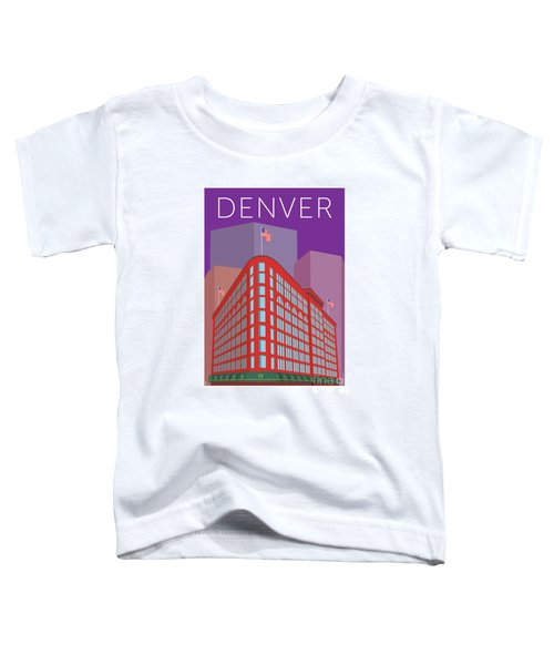 Denver Brown Palace/purple Toddler T-Shirt