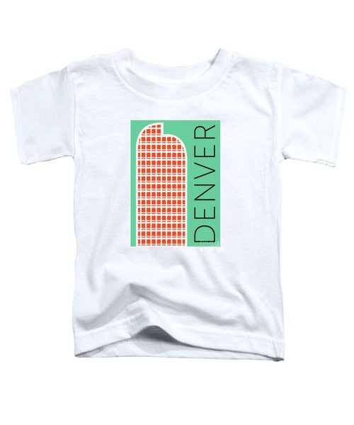 Denver Cash Register Bldg/aqua Toddler T-Shirt