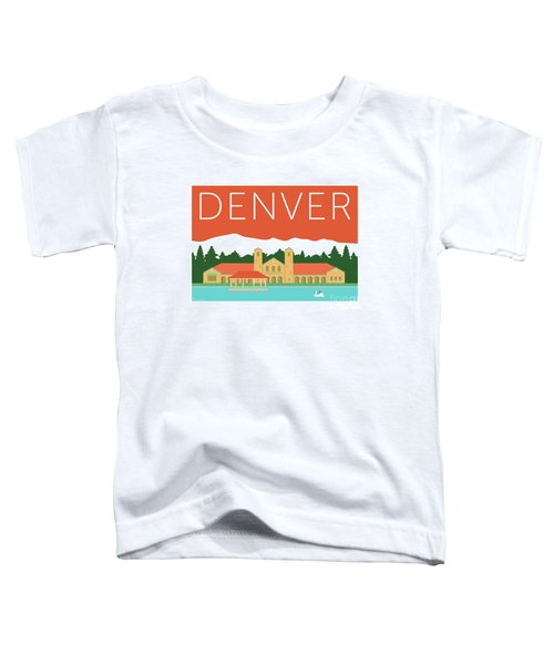 Denver City Park/coral Toddler T-Shirt