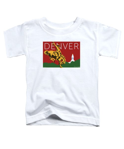 Denver Cowboy/maroon Toddler T-Shirt