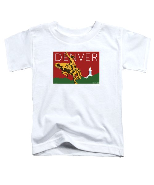 Denver Cowboy/maroon Toddler T-Shirt