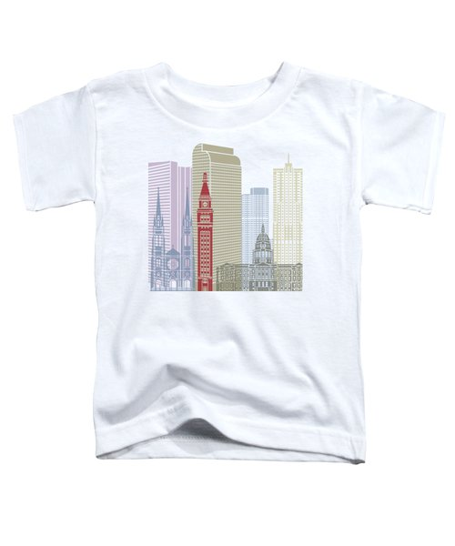 Denver Skyline Poster Toddler T-Shirt